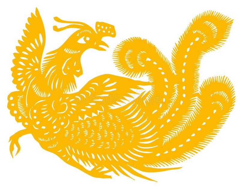 золото phoenix иллюстрация штока