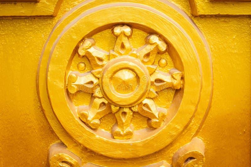 Золото Thammachak или колесо жизни стоковое фото rf