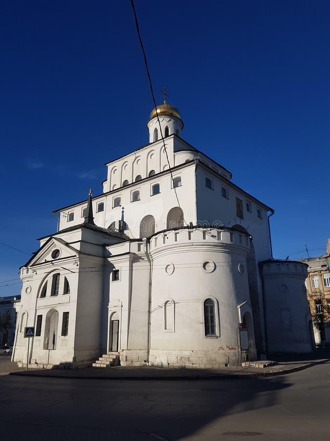 Золотые ворота Владимир построили между 1158 и 1164, Россия в золотом кольце России стоковое изображение