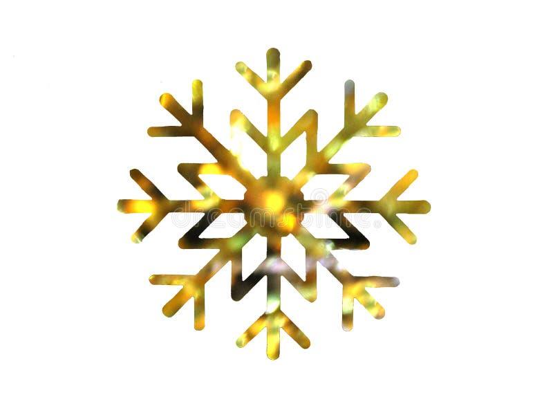 Золотые желтые тени дизайна снежинки стоковые изображения