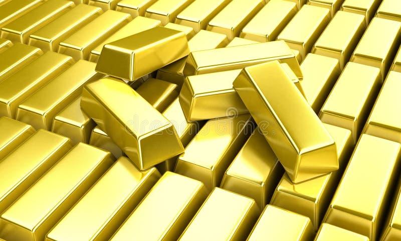 золотые инготы стоковые изображения rf