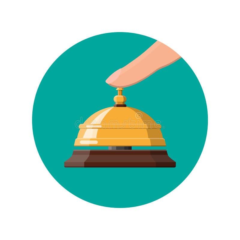 Золотые колокол и рука обслуживания бесплатная иллюстрация