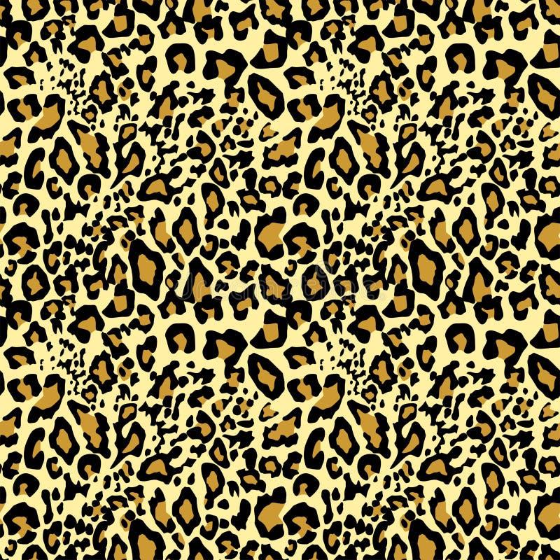 Золотые обои леопарда Животная печать иллюстрация штока