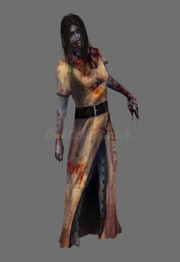 Зомби дамы иллюстрация штока