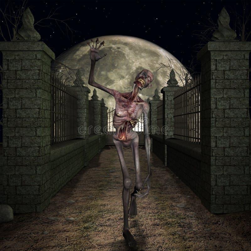 зомби места halloween иллюстрация вектора