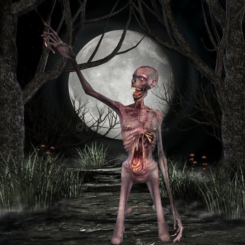 зомби места halloween иллюстрация штока
