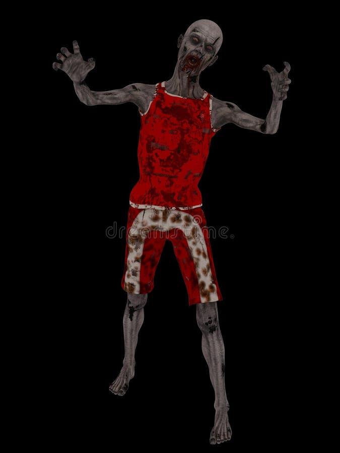 Зомби на черноте иллюстрация вектора