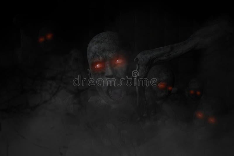 зомби ужаса 3D иллюстрация вектора