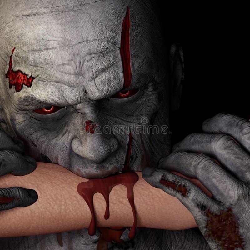 Зомби - укус бесплатная иллюстрация