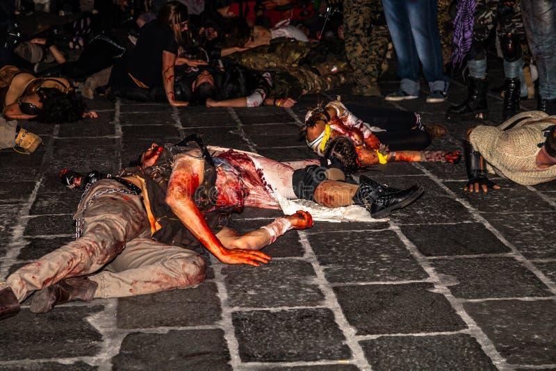 Зомби хеллоуин к ноча стоковое фото rf