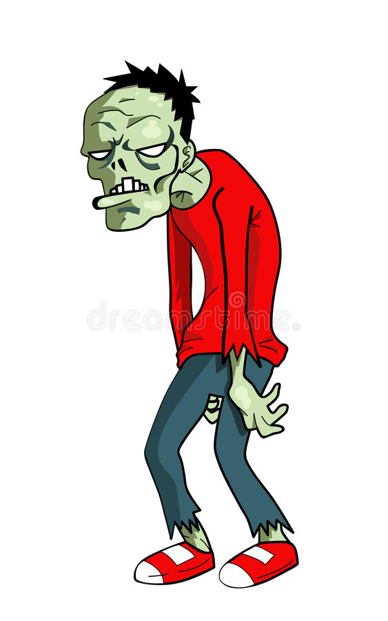 Зомби шаржа иллюстрация штока