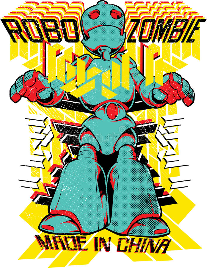 Зомби Robo иллюстрация вектора