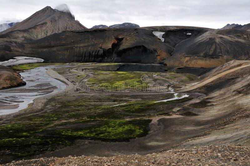 зона вокруг hekla Исландии стоковые фотографии rf