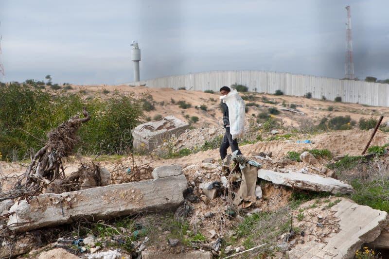 зона Газа граници стоковое фото