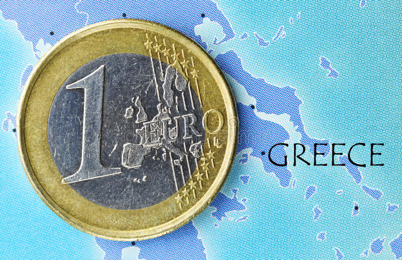 зона Греции евро стоковое фото rf