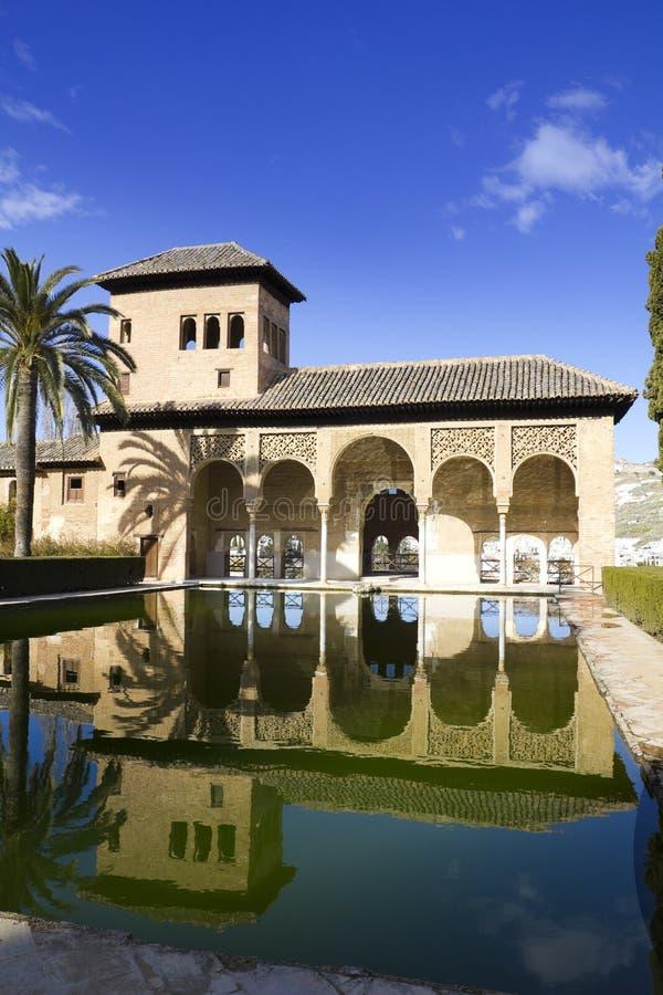 зона дворца alhambra partal стоковые изображения