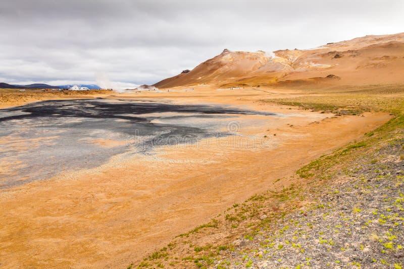 Зона Исландия Hverir геотермическая стоковая фотография