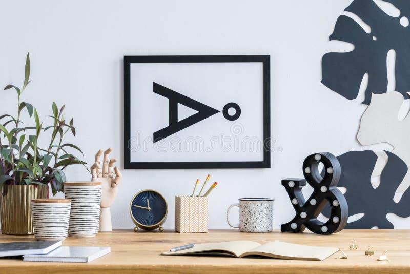Зона исследования с простым плакатом стоковые изображения