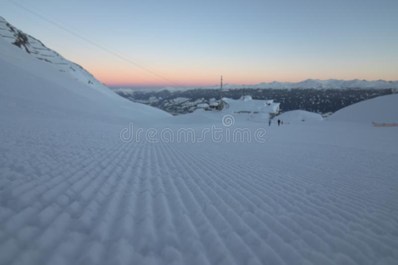 Зона катания на лыжах Nordkette стоковая фотография