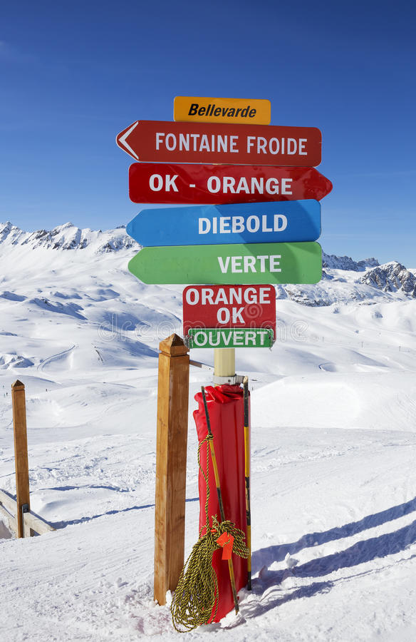 Зона катания на лыжах стоковые изображения