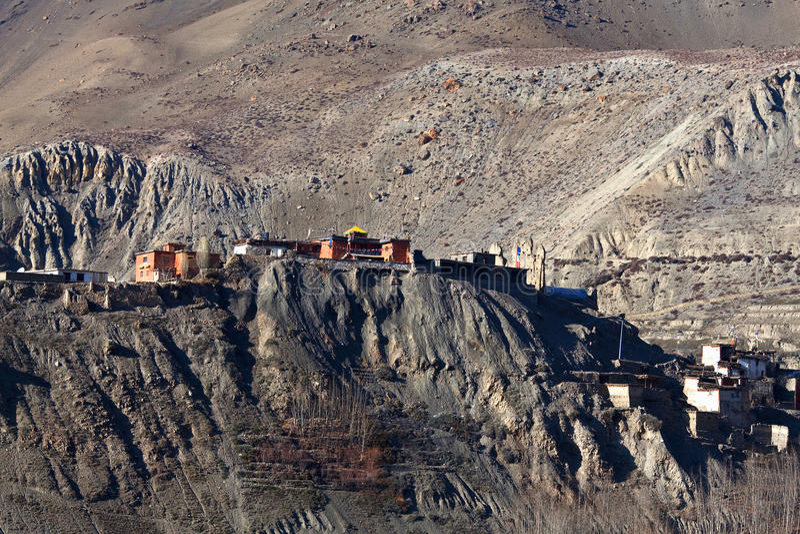 Зона мустанга, зона консервации Annapurna, Непал стоковые изображения rf