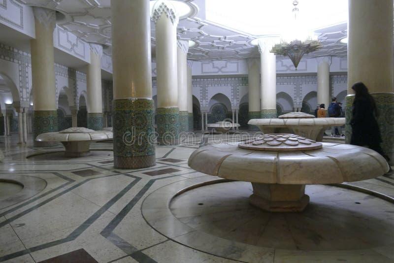 Зона омовений мечети Хасана II стоковые изображения