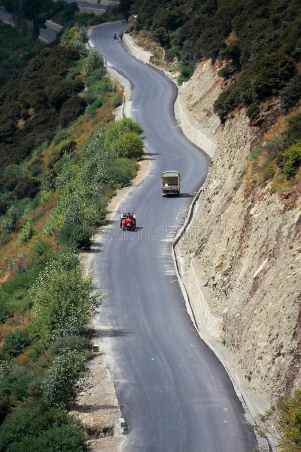 Зона плато горы в Китае стоковые изображения rf