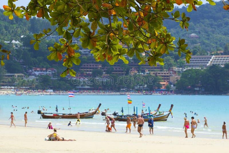 Зона пляжа Kata в Пхукете, Таиланде стоковое фото rf