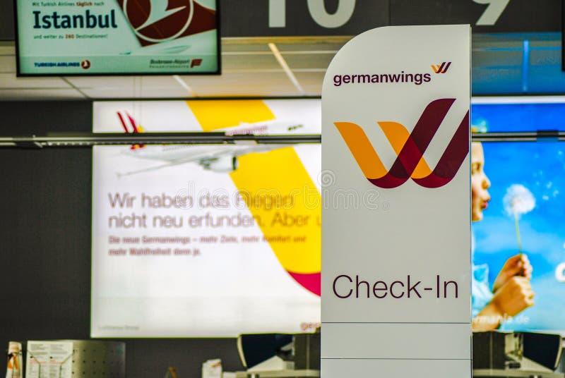 зона регистрации germanwings стоковые изображения