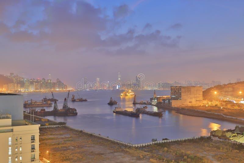 Зона схвата Yau в Kowloon, Гонконге стоковое изображение