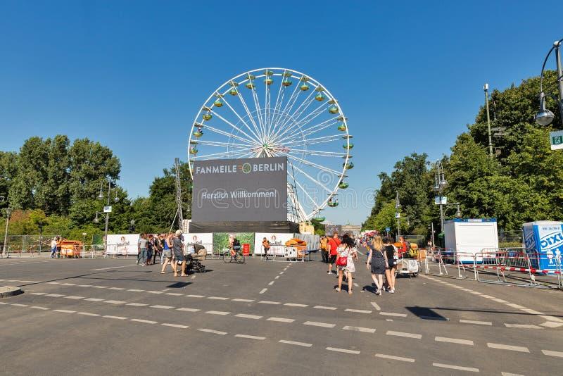 Зона футбольного болельщика в парке Tiergarten berlin Германия стоковое фото