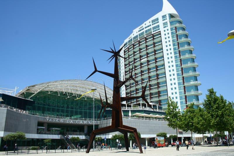 Зона ярмарок экспо в Лиссабоне стоковое изображение rf