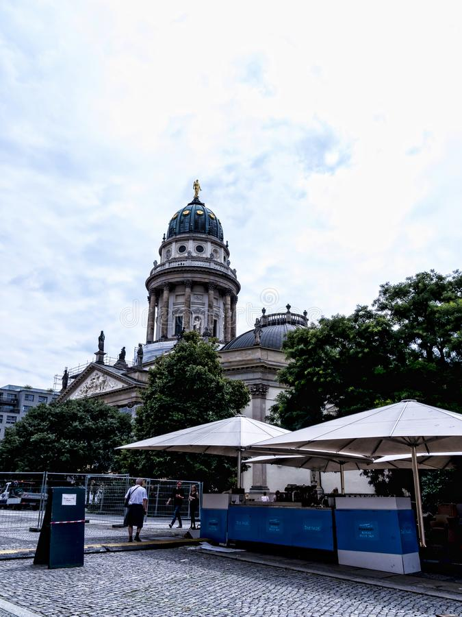 Зона Gendarmenmarket Берлина столица Германии стоковое фото rf
