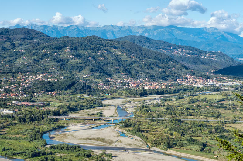 Зона Lunigiana Италии, северной Тосканы стоковое изображение