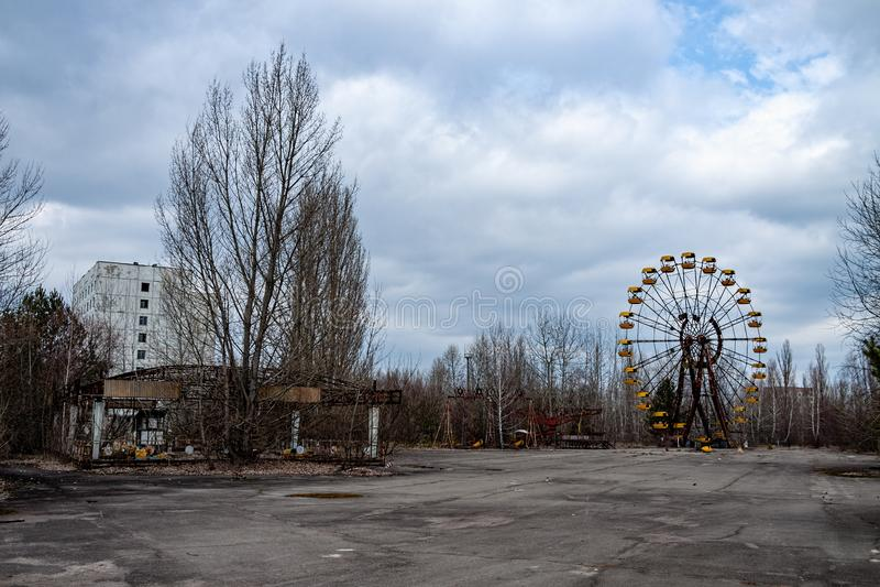 Зона Pripyat Чернобыль стоковая фотография rf