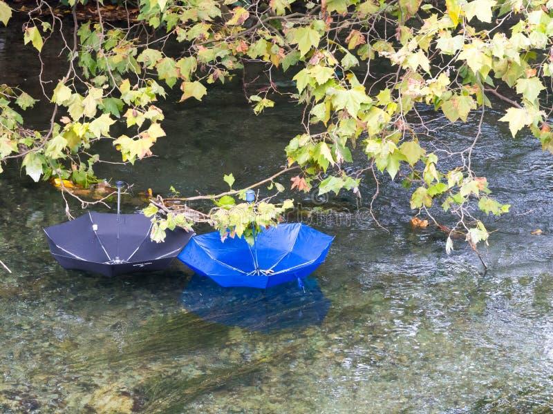 Download Зонтики в реке стоковое фото. изображение насчитывающей вода - 81803342