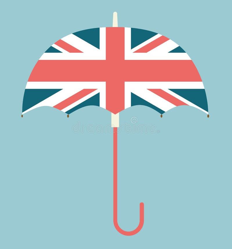 Зонтик Англии - великобританский зонтик иллюстрация штока