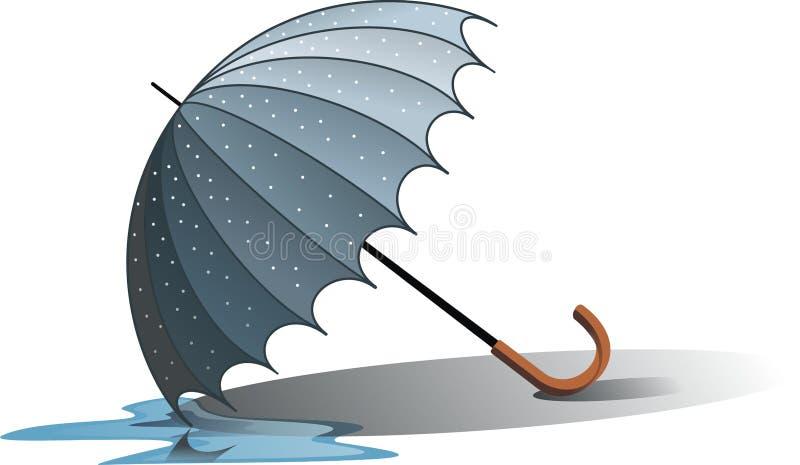 зонтик влажный бесплатная иллюстрация