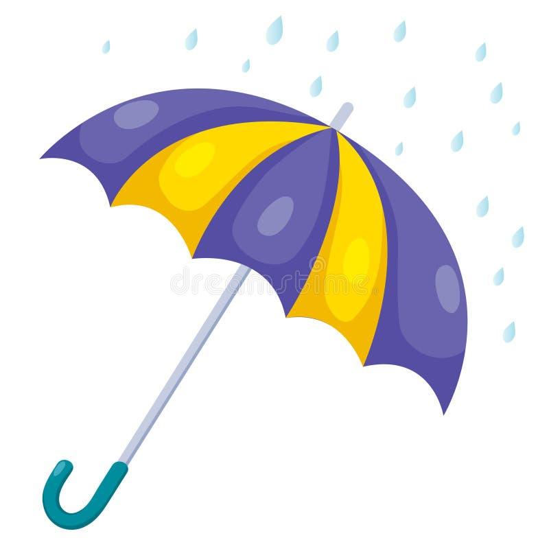 Зонтик и дождь иллюстрация штока