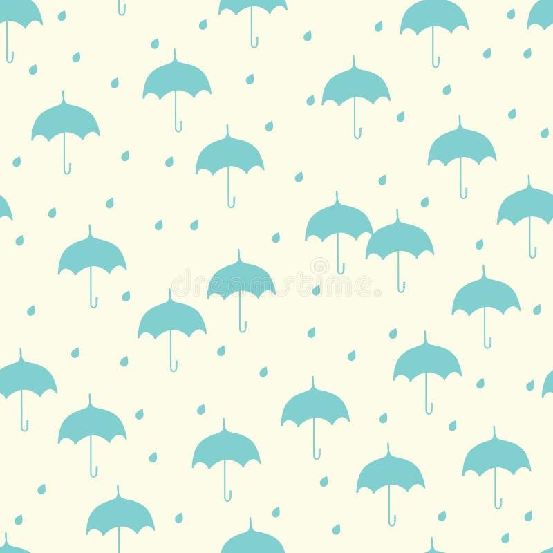 зонтик картины безшовный иллюстрация штока