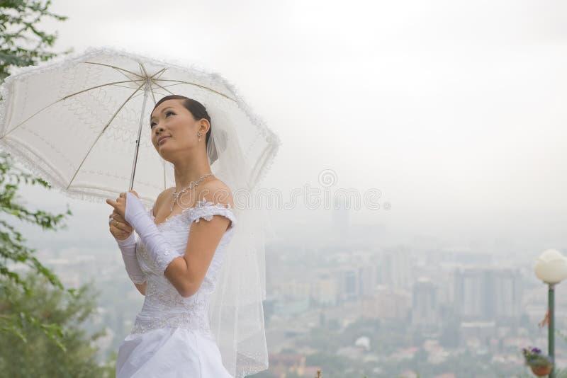 зонтик невесты стоковые изображения