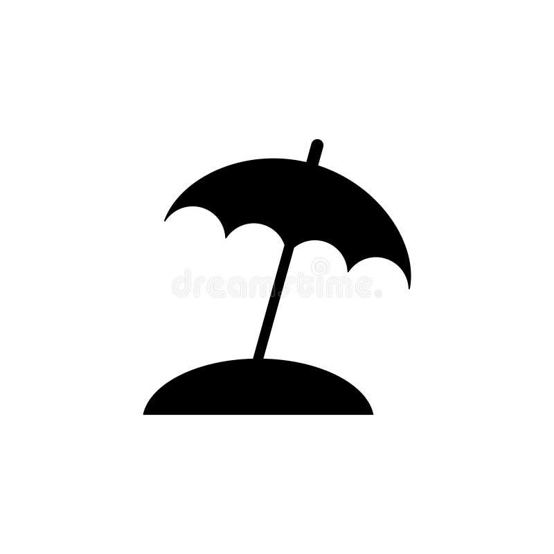 Зонтик пляжа, УЛЬТРАФИОЛЕТОВЫЙ защищает плоский значок вектора бесплатная иллюстрация