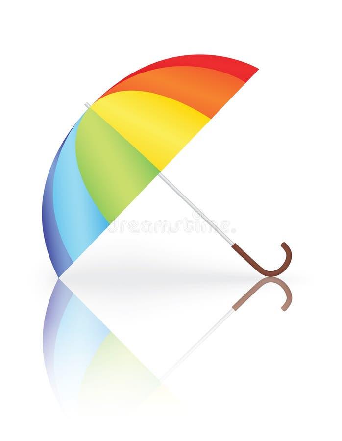 зонтик радуги иллюстрация вектора