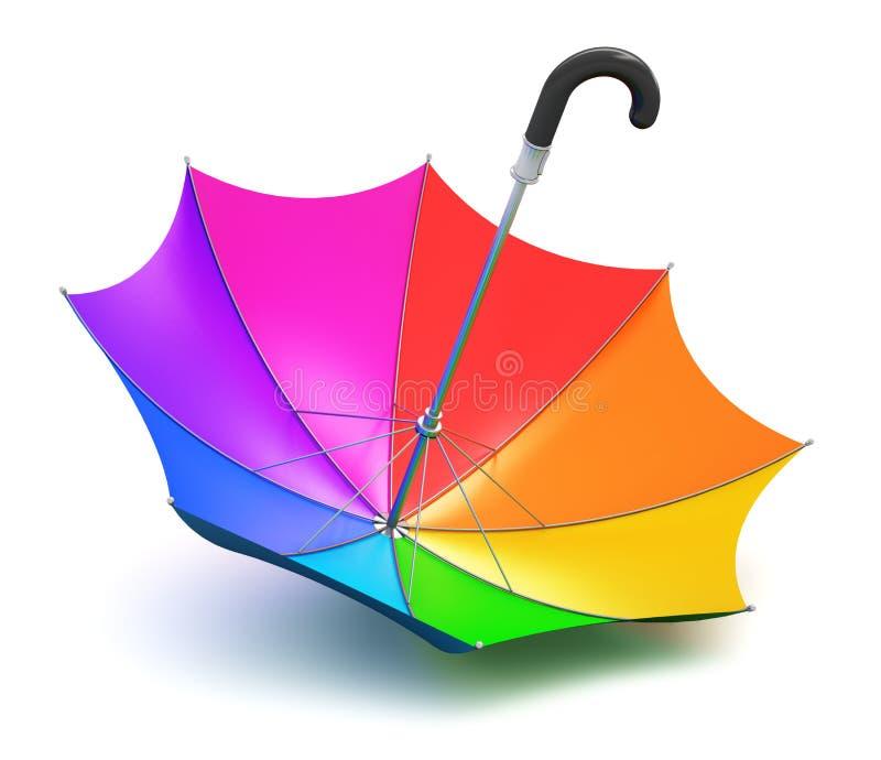 Зонтик радуги иллюстрация штока