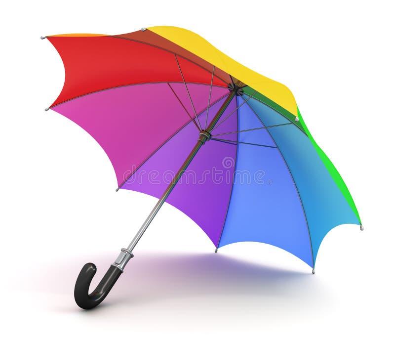 зонтик радуги бесплатная иллюстрация
