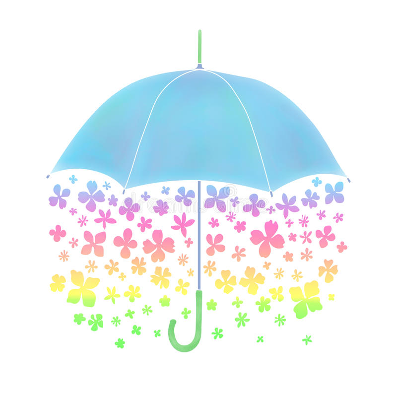 Зонтик цветка иллюстрация штока