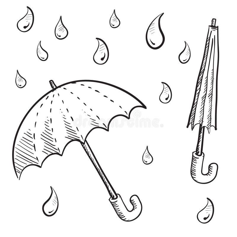 зонтик эскиза обеспеченностью иллюстрация штока