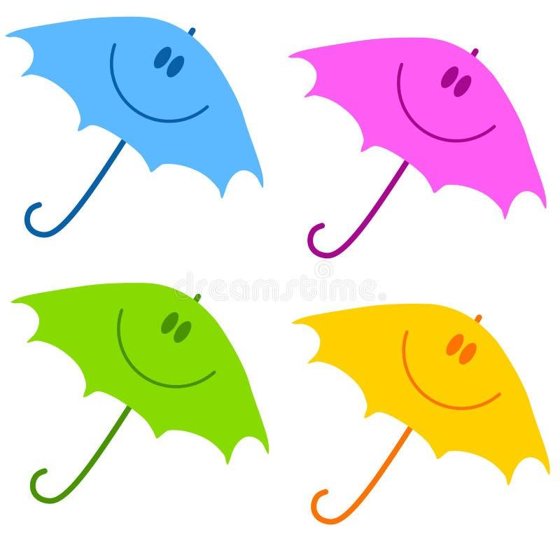 зонтик smiley стороны зажима искусства иллюстрация вектора
