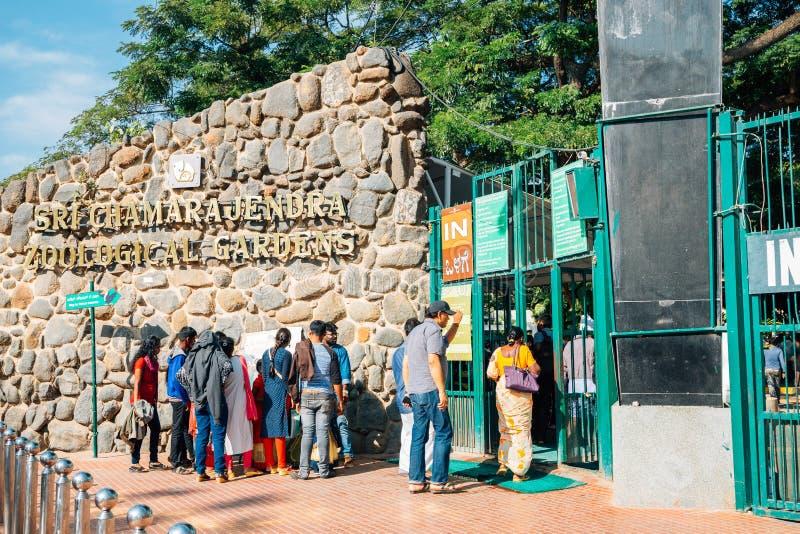 Зоопарк Майсура, сады Sri Chamarajendra зоологические в Майсуре, Индии стоковые изображения rf
