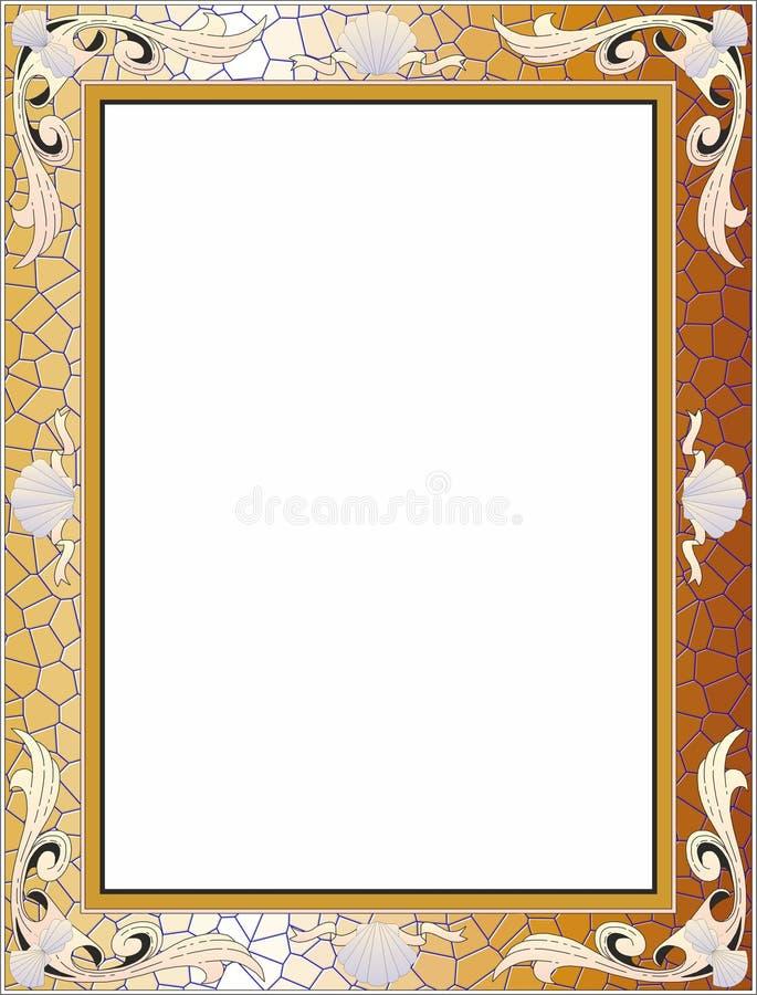 Золотая барочная рамка, предпосылка иллюстрация вектора